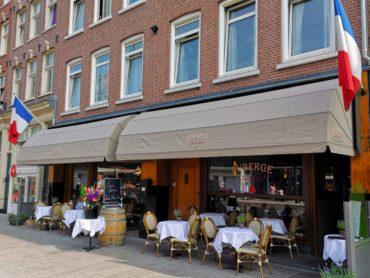 Terras, Amsterdam, Auberge, Jean & Marie, Frans restaurant,
